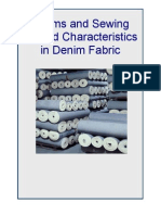 Seams and Sewing Thread Characteristics in Denim Fabric