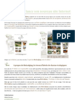 Communiqué de presse - BioLodging lance son nouveau site Internet