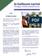 La lettre de Guillaume Larrivé, conseiller régional de Bourgogne, conseiller municipal d'Auxerre - Mai 2011