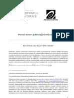 Wartość domeny publicznej w Unii Europejskiej (2010) autorstwa Rufusa Pollocka, Paula Stepana i Mikko Välimäki