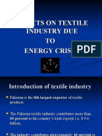 Effects on Textile Industry due To power shortage