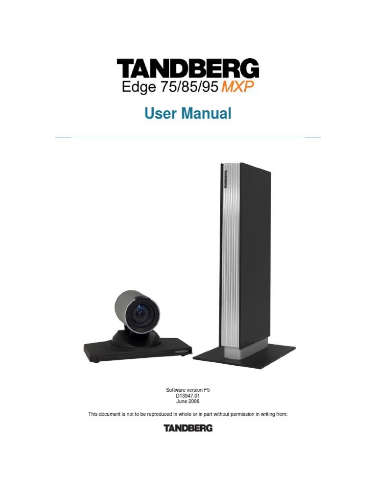 tandberg edge 95 85 75 mxp user manual f5 electronic waste rh es scribd com TANDBERG Profile Tandberg 3000 MXP Profile