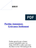 Articles on Grievance