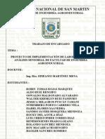 PROYECTO DE IMPLEMENTACIÓN DE LABORATORIO DE ANÁLISIS SENSORIAL