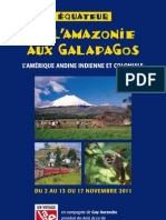 Equateur - brochure de voyage La Vie