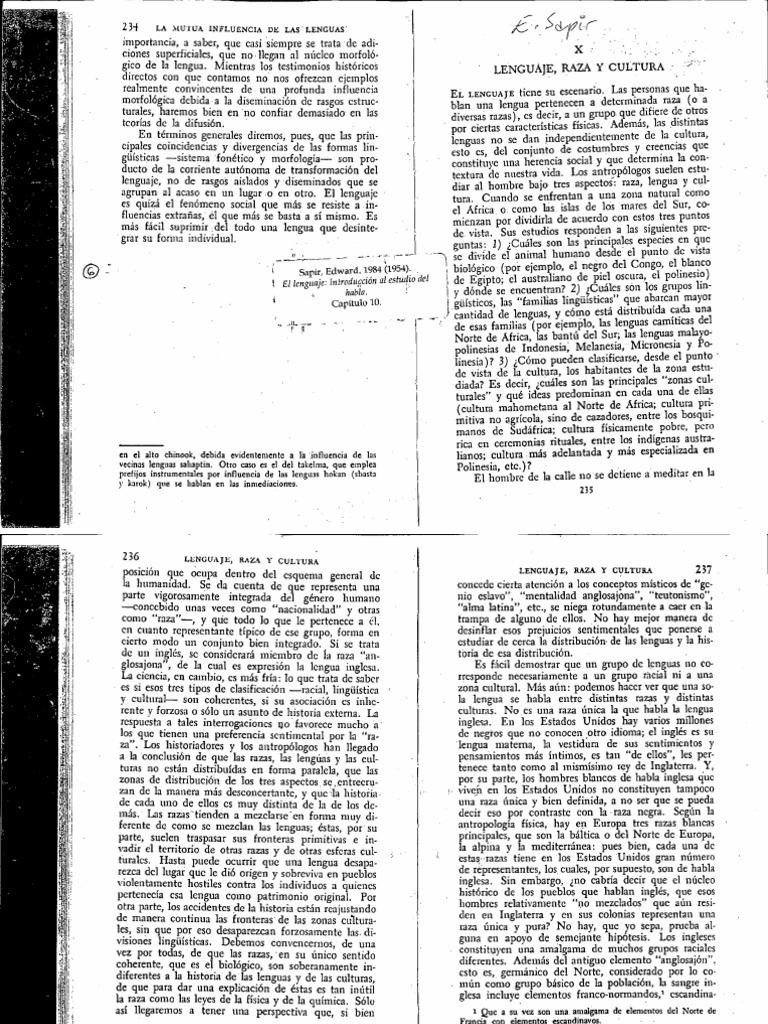 el lenguaje introducción al estudio del habla edward sapir pdf