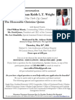 Community Conversation with Assemblyman Wright and City Council Speaker Christine Quinn