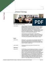 TelePresence Technology Seminar