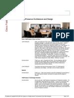 TelePresence Architecture and Design
