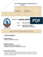 FAUA - UPAO. Modelo Memo Proyecto