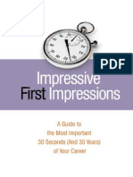 Impressive First Impressions a Guide to the Most Important 30 Seconds-Mantesh