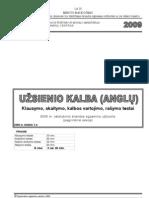 2009 metų anglų kalbos valstybinis egzaminas