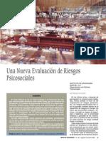 Una nueva evaluacción de riesgos psicosociales