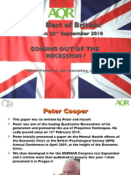 Coming Out of the Recession? Best of British - AQR 2010