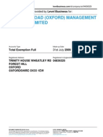 78 OLIVER ROAD (OXFORD) MANAGEMENT COMPANY LIMITED    Company accounts from Level Business