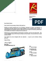 2006 Radical Sr8 Owners Manual