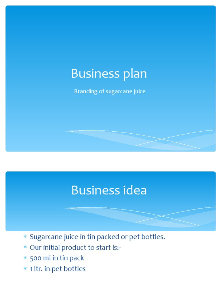 Sugarcane business plan