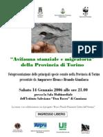 """Serata """"Avifauna stanziale e migratoria"""" della Provincia di Torino"""