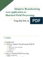 Robust Adaptive Beam Forming