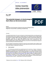 Council Europe Report the Potential Dangers of Electromagnetic Fields and Their Effect on the Environment 06-05-2011