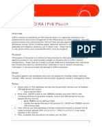 CIRA IPv6 Internal Policy