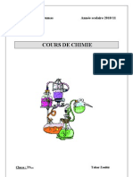 cours chimie 20102011
