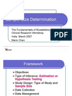 Sample Size Determination India 2007