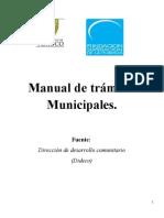 Manual de trámites Municipales