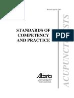 Acupuncturist Standards 2005