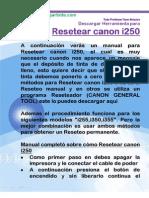 Resetear Canon i250
