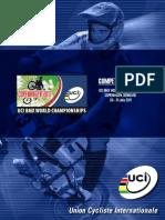 Guia de Competencia del Mundial de BMX UCI 2011.
