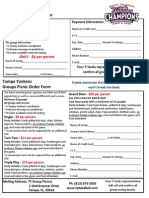 Group Outing Form
