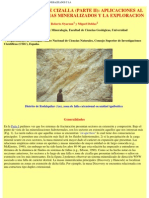 Aplicaciones Al Estudio de Sistemas Mineralizados y La
