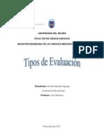 monografía tipos de evalución