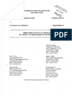 Kentucky Bar v. Stanley Chesley, Chesley's Brief on Appeal & Motion to Abate, 4/25/11