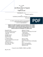 Brady v NFL - Amicus of MLB NHL and NBA Players Assns