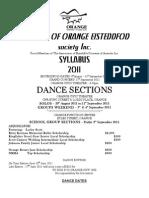 2011 Dance Syllabus