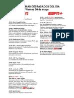 Programación Deportiva ESPN