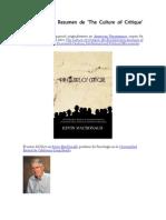 S. Hornbeck – Resumen de 'The Culture of Critique' (en español)