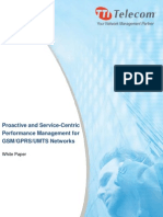 Service Centric Performance Management for Wireless Networks