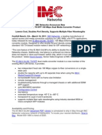 IE-iMcV-2xLIM Press Release - March 15, 2011