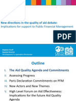 Quality of Aid Debate & Results - Groff