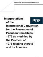 Interpretations of the International Convention of the Prevention of Pollutions From Ships
