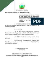 Decreto n. º 26.428 de 21 de outubro de 2005 - Regulamentação