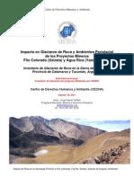 Informe de Impacto en Glaciares de Roca y Ambientes Periglacial de los Proyectos Mineros Filo Colorado (Xstrata) y Agua Rica (Yamana Gold) de Jorge D. Taillant