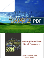 Peresentation of deliviring value from social commerce