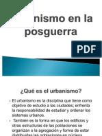 Urbanismo en La Posguerra