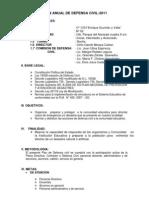 Plan Anual de Defensa Civil-2011