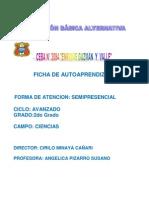 FICHA Nº 1 CIENCIAS 2º GRADO..