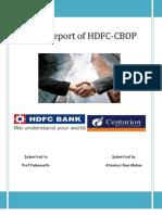 Merger Report of HDFC-CBOP by Atmakuri Rammohan
